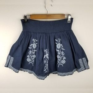 J Crew Embroidered Eyelet A Line Stretch Skirt XS